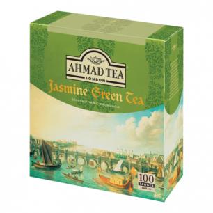 """Чай AHMAD """"Jasmine Green Tea"""", зелёный с жасмином, 100 пакетиков в конвертах по 2г, 475-012"""
