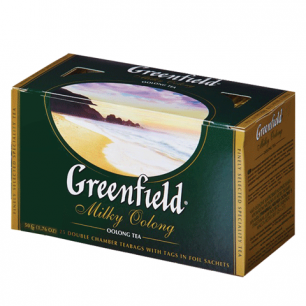 "Чай GREENFIELD ""Milky Oolong"" (Молочный улун), улун с добавками, 25 пакетиков по 2г, ш/к 10679"