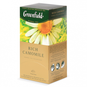"Чай GREENFIELD ""Rich Camomile"" (Ромашковый), травяной, 25 пакетиков в конвертах по 1,5г, ш/к 04322"