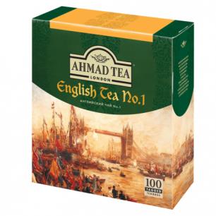 """Чай AHMAD """"English Tea"""", черный, 100 пакетиков с ярлычками по 2г"""