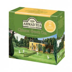 "Чай AHMAD (Ахмад)  ""Chinese Green Tea"", зеленый, 40 пакетиков без ярлычков по 1,8г, 1584"