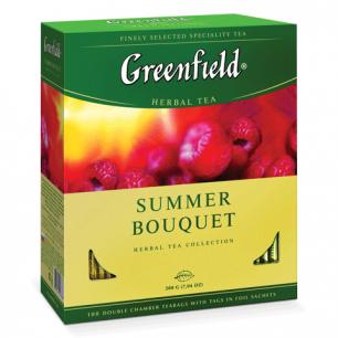 """Чай GREENFIELD """"Summer Bouquet"""" (Летний букет), травяной, 100 пакетиков в конвертах по 2г, ш/к 08788"""