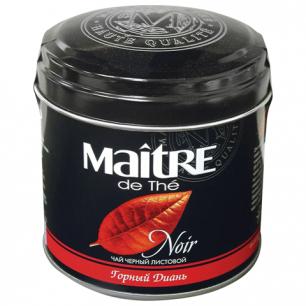 "Чай MAITRE (МЭТР)  ""Горный диань"", черный, листовой, ж/б, 100г, бар110р"
