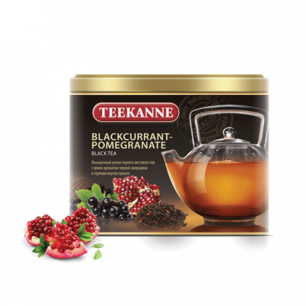 "Чай TEEKANNE (Тикане)  ""Blackcurrant-Pomegranate"", черный, смородина, гранат, лист, 150г, Герм., ш/к26551"
