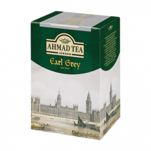 "Чай AHMAD (Ахмад)  ""Earl Grey"", черный листовой, с бергамотом, картонная коробка, 200г, 1290-012"
