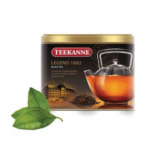 """Чай TEEKANNE (Тикане)  """"Legend 1882"""", черный, листовой, ж/банка, 150г, Германия, ш/к 26513"""