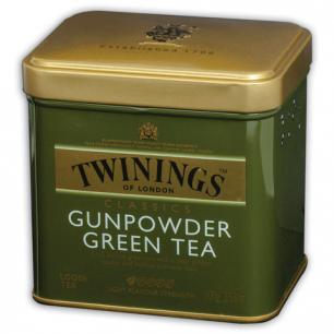 "Чай TWININGS ""Green tea Gunpowder"", зеленый, ж/б, 100г, F09013"