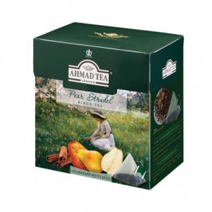 """Чай AHMAD (Ахмад)  """"Pear Strudel"""", черный, вкус грушевого штруделя, 20 пирамидок по 1,8г, 1236"""