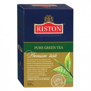 """Чай RISTON (Ристон)  """"Pure Green Tea"""", зеленый листовой, картонная коробка, 200г, ш/к 07137"""