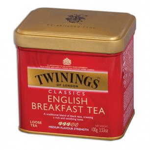 """Чай TWININGS """"English Breakfast"""", черный, ж/б, 100г, F09010"""