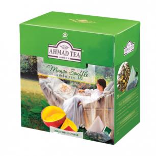 """Чай AHMAD (Ахмад)  """"Mango Souffle"""", зеленый, вкус мангового суфле, 20 пирамидок по 1,8г, 1400"""