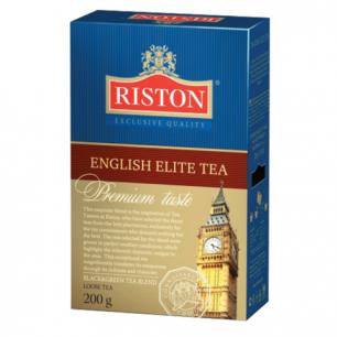 """Чай RISTON (Ристон)  """"English Elite Tea"""", черный и зеленый листовой с бергамотом, купаж, 200г, ш/к00398"""