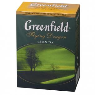 "Чай GREENFIELD ""Flying Dragon"", зеленый, листовой, 100г, 0357"