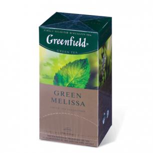 """Чай GREENFIELD """"Green Melissa"""", зеленый, 25 пакетиков в конвертах по 1,5 г, шк 04353"""