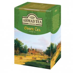"""Чай AHMAD """"Green Tea"""", зеленый листовой, картонная коробка 200г, 1310"""