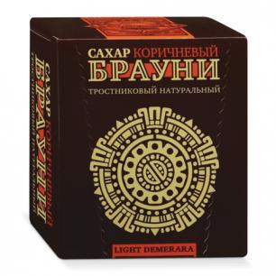 Сахар тростниковый БРАУНИ 0,5кг (98 кусочков, размер 15*16*21мм), ш/к 1155