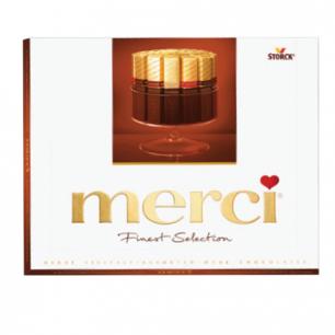 Конфеты шоколадные MERCI (Мерси), ассорти из темного шоколада, 250г, картонная коробка, ш/к 01412