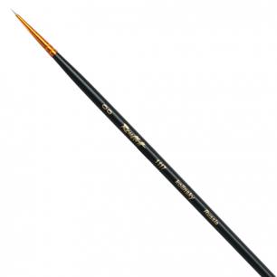 Кисть художественная ROUBLOFF (Рублев)  колонок, круглая, №00, длинная ручка, ЖК1-00,57Ж