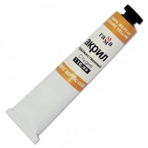 Краска акриловая художественная ГАММА, туба 46мл, охра желтая, 0.40.А046.116