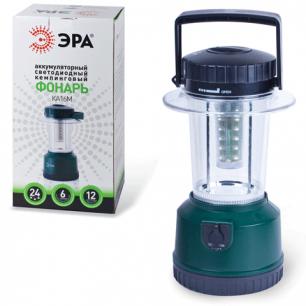 Фонарь ЭРА офисно-бытовой аккумуляторный, 24 белых светодиода, ЗУ от 220 и 12В, KA16M