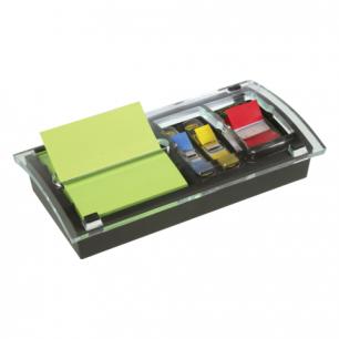 """Диспенсер для блоков (стикеров)  POST-IT """"Миллениум"""", комбинир.+12 блок 76х76мм, 100л., закладки, DS100"""