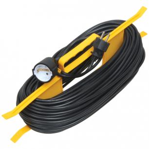 Удлинитель на рамке IEK (ИЕК)  ГОСТ Р51322.1,1 розетка, 20 метров, 2х0,75мм, 1300Вт, б/заземления.