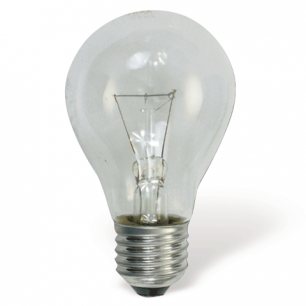Лампа накаливания OSRAM Classic A CL E27, 60Вт, грушевидная, прозрачн, колба d=60мм, цоколь d=27мм