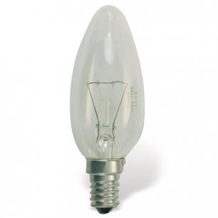 Лампа накаливания OSRAM Classic B CL E14, 60Вт, свечеобразная, прозрачн, колба d=35мм, цоколь d=14мм
