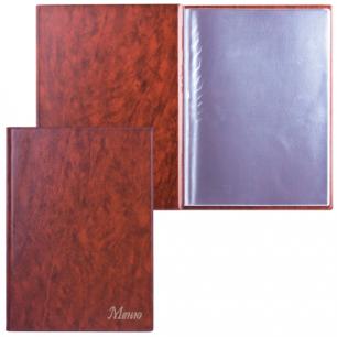 """Папка """"Меню"""" с 10 файлами, 220*320мм, коричневая, ДПС, 2137.М-104"""
