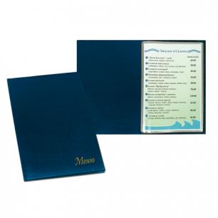 """Папка """"Меню"""" с 10 файлами, 220*320мм, синяя, ДПС, 2137.М-101"""