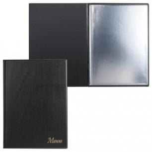 """Папка """"Меню"""" с 10 файлами, 220*320мм, черная, ДПС, 2137.М-107"""