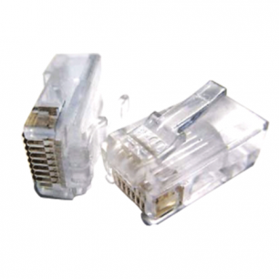 Коннекторы (вилки)  RJ-45, КОМПЛЕКТ 100 шт, универсальные, кат.5e, 8p8c, PLUG3UP6/5