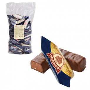 Конфеты шоколадные БАБАЕВСКИЙ с дробленым миндалем и вафельной крошкой, 1000г, пакет, ш/к 62062