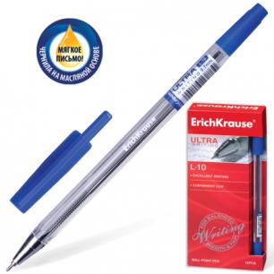 "Ручка шариковая масляная ERICH KRAUSE ""Ultra L-10"", корпус прозрачный, 0,7мм, 13873, синяя"