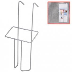 Лоток навесной для стоек ПАРУС, ф. А6 (в220*ш115*г30), проволочный, хром, (стойки 290441, 290442)