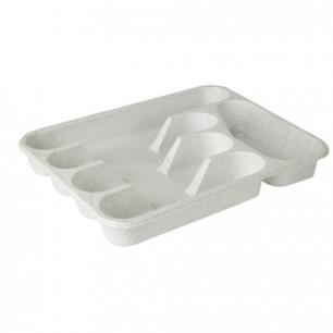 Сушилка для столовых приборов IDEA, 5 секций, вкладыш, (в4,8*ш33*г26 см), цвет мраморный, М 1140