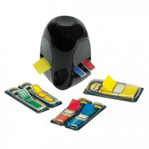 Диспенсер для закладок самоклеящ. POST-IT Professional, черн+заклад 1шт.25мм, 4шт.12,7мм, 680-DGD2BEU