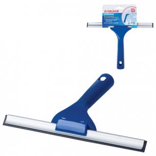 Стяжка для удаления жидкости со стекол ЛАЙМА, рабочая часть 25см, пластик, для дома и офиса, 601495