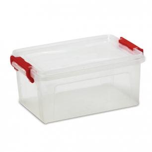 Ящик для хранения универсальный 25л, крышка на защелках, (в24*ш48,4*г32см), прозрачный, М2867