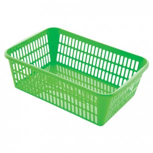 Корзинка для хранения универсальная, пластиковая, (в9,5*ш30*г19,5см), ассорти, 4333200