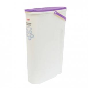 Контейнер 5л для стирального порошка IDEA, белый корпус, крышка с клапаном, (в32*ш11*г24см), М 1240