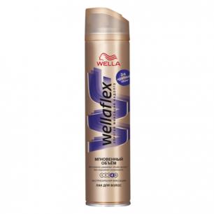 """Лак для волос WELLAFLEX (Веллафлекс)  250мл, """"Мгновенный объем"""", экстра-сильная фиксация, ш/к 29530"""