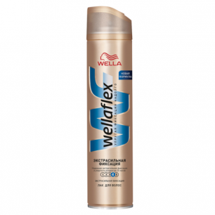 """Лак для волос WELLAFLEX (Веллафлекс)  250мл, """"Экстра-сильная фиксация"""", ш/к 14061"""