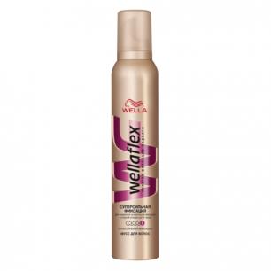 """Мусс для волос WELLAFLEX (Веллафлекс)  200мл, """"Супер-сильная фиксация"""", ш/к 14726"""