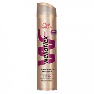 """Лак для волос WELLAFLEX (Веллафлекс)  250мл, """"Супер-сильная фиксация"""", ш/к 14047"""