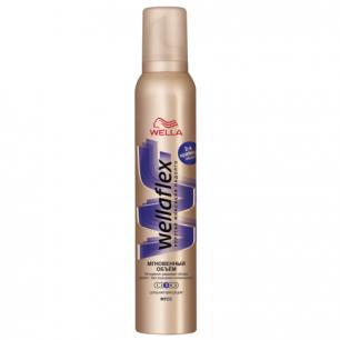 """Мусс для волос WELLAFLEX (Веллафлекс)  200мл, """"Мгновенный объем"""", экстра-сильная фиксация, ш/к 29561"""