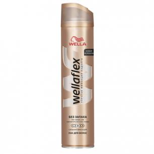 """Лак для волос WELLAFLEX (Веллафлекс)  250мл, """"Сильная фиксация"""", без запаха, ш/к 26647"""