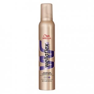 """Мусс для волос WELLAFLEX (Веллафлекс)  200мл, """"Объем для тонких волос"""", супер-сильная фиксация, ш/к88573"""