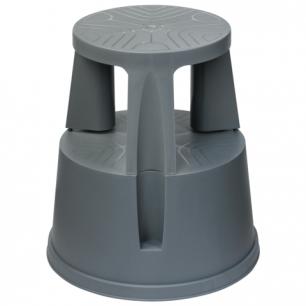 Лестница-тумба 43см, 2 ступени, передвижная, пластиковая, нагрузка до 150 кг, серая, РОССИЯ, 640104