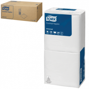 Салфетки TORK Big Pack, 24х23,8, 200шт., белые, 10130